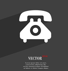 retro telephone handset icon symbol Flat modern vector image