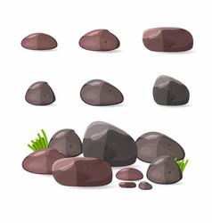 Rocks stones set in cartoon style vector