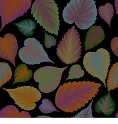 Seamless background from colorful leaves vector image