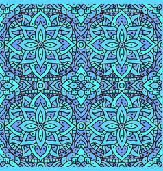 seamless pattern mandala boho indian vector image