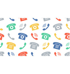 seamless pattern with phones vector image