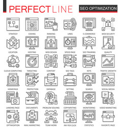 seo search engine optimization outline concept vector image