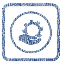 service fabric textured icon vector image