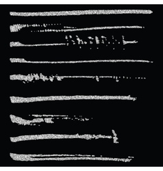 Set of glitter brush strokes vector