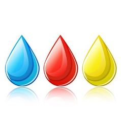 Set of shiny drops vector image