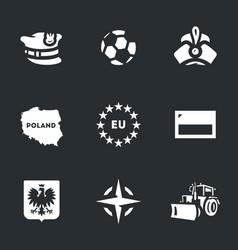 set poland icons vector image