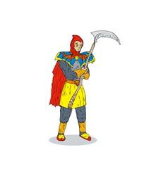 Super Hero Scythe vector