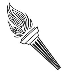 Symbol torch vector image