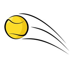 Tennis ball sketch vector image