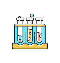 Test tube rack rgb color icon vector