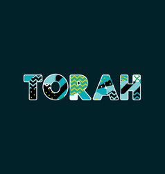 Torah concept word art vector