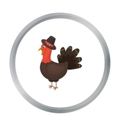 Turkey icon in cartoon style isolated on white vector