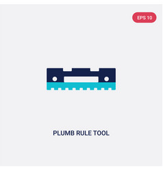 Two color plumb rule tool icon from construction vector