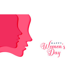 Two female faces for happy womens day vector