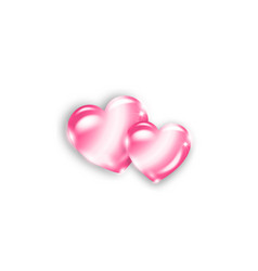 two pink heart shaped stones happy valentines day vector image