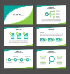 Two tone green presentation templates Infographic vector