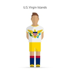 US Virgin Islands football player Soccer uniform vector
