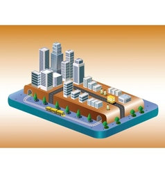 View of the city vector image