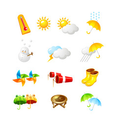 weather icon 3d icon design vector image