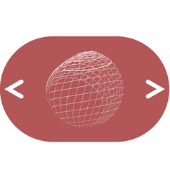 wire-frame design element sphere vector image