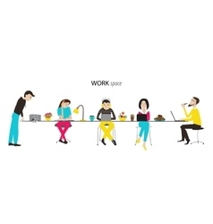 Work space concept vector image
