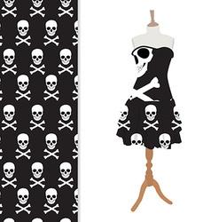 Black halloween dress vector image vector image