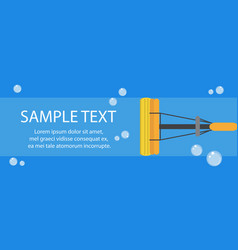 cleaning banner mop banner template for your text vector image vector image