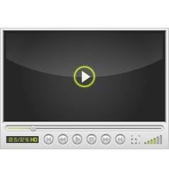 video movie media player vector image