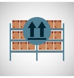 warehouse box fragil symbol vector image