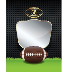 American Football Background Template vector image vector image