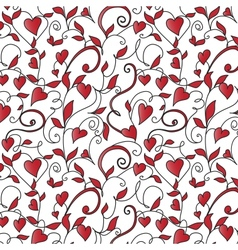 Background with hearts ornament vector image