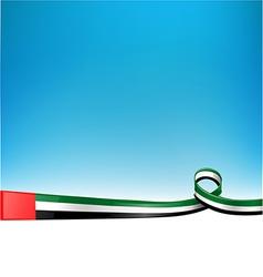 emirates flag on background vector image