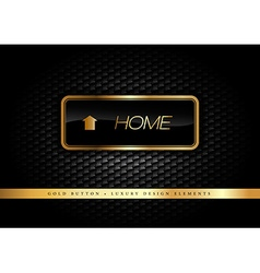 Gold Button vector image vector image