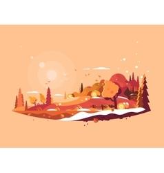 Landscape autumn vector image