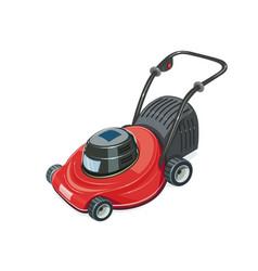 lawn mower garden tool vector image vector image