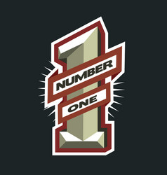number one logo vector image vector image