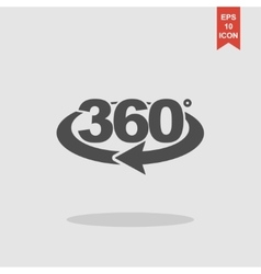 rotation of 360 gradusav web icon vector image