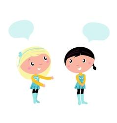 school girls vector image vector image