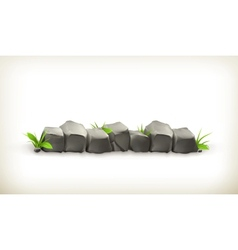 Stones and grass vector image vector image