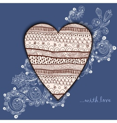 Template frame design for love card with lace vector image vector image