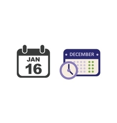 calendar icon set vector image vector image
