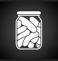 canned cucumbers icon vector image