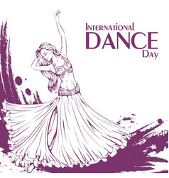 Dance day belly dance vector