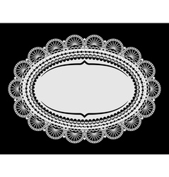 doily mat vector image vector image