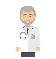 professional doctor specialist with glasses and vector image vector image