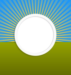 Round design element with rays vector image