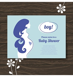 Silhouette pregnant mother vector image