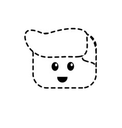 dotted shape man character head to video game vector image vector image