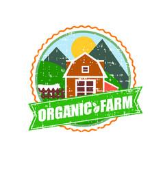 farm house concept logo template with farm vector image