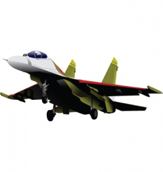 fighter jet vector image